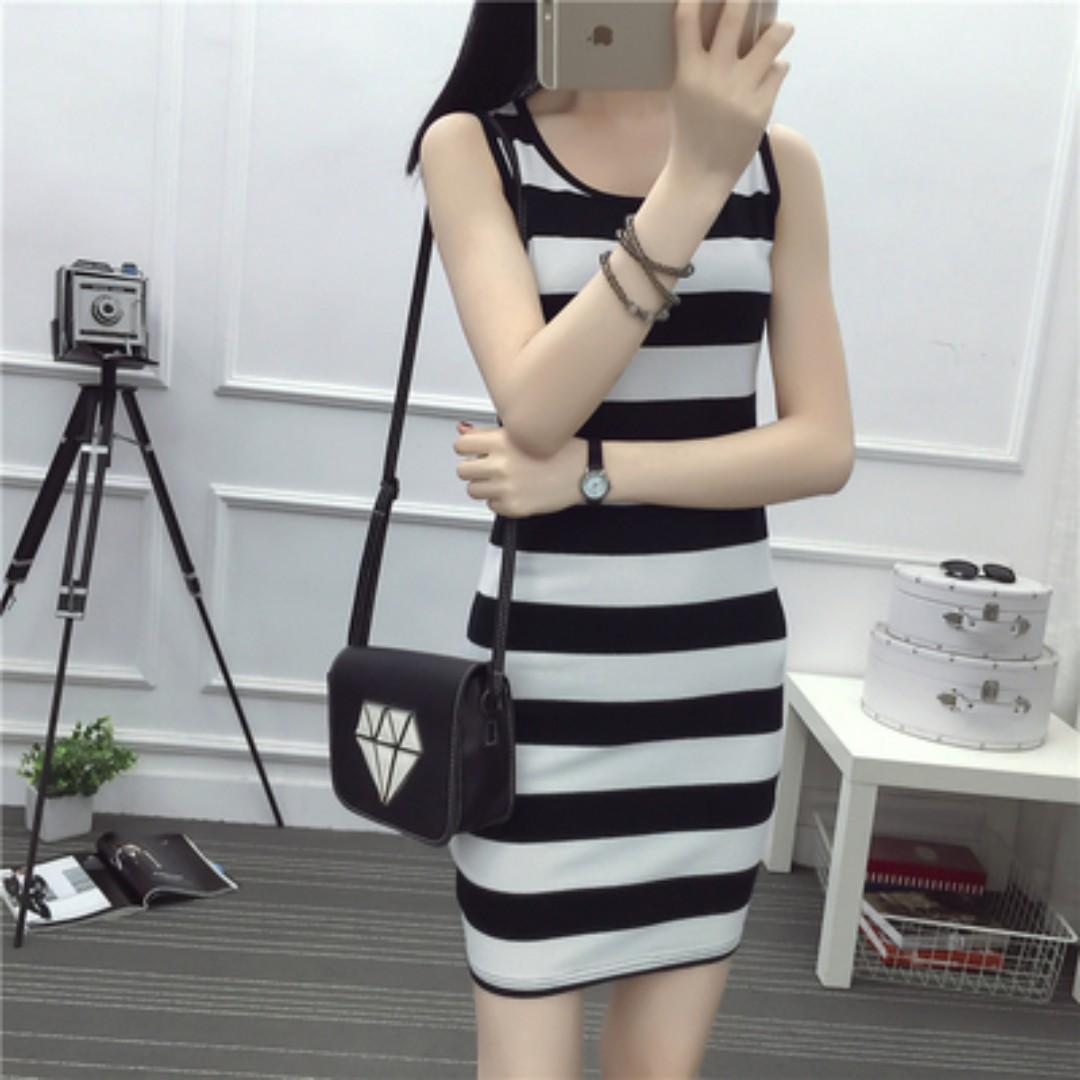 H&M Striped Bodycon Dress
