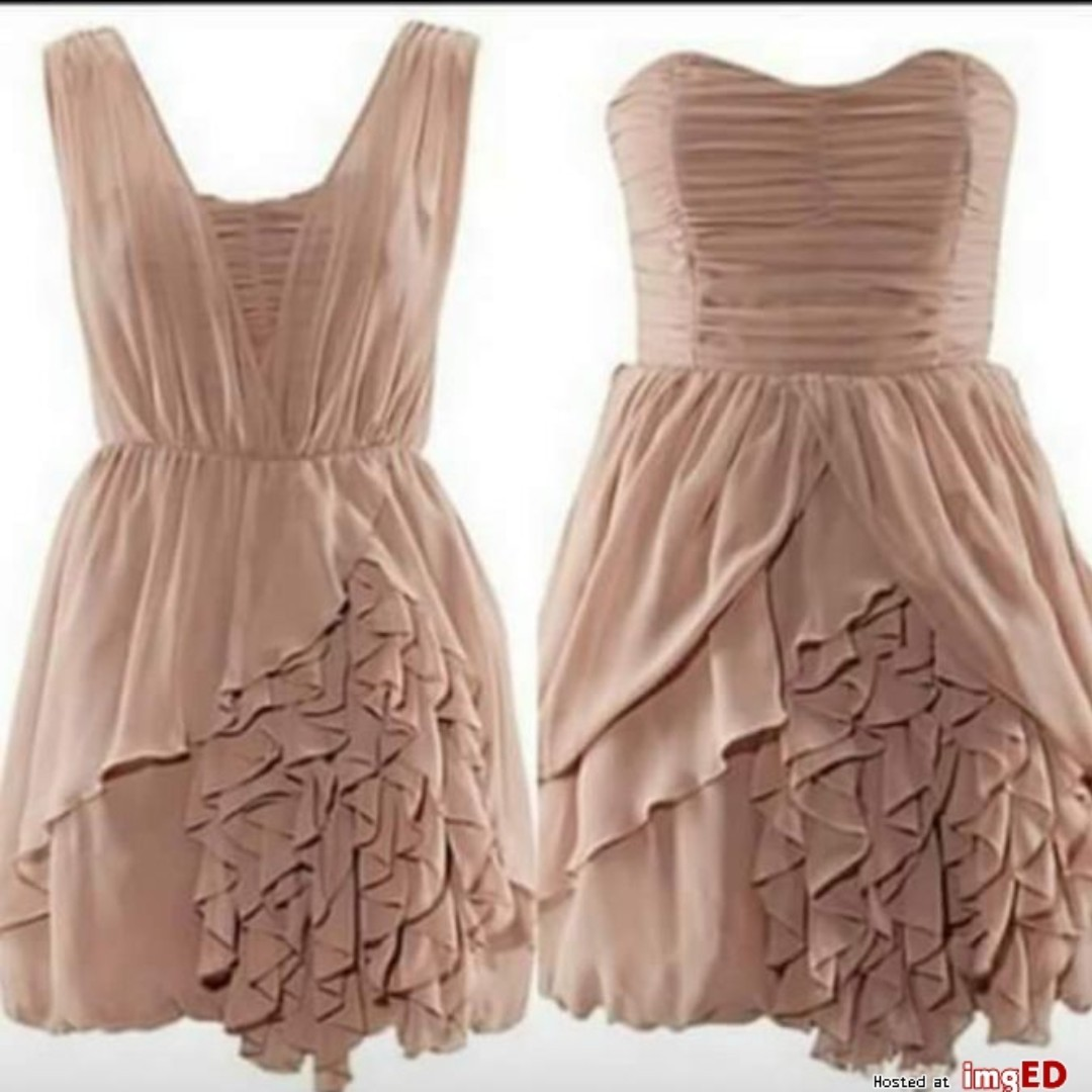 H&M Two-Way Ruffle Bubble Corset Dress