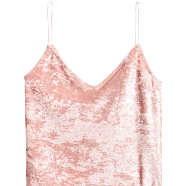 H&M Velvet Pink Top