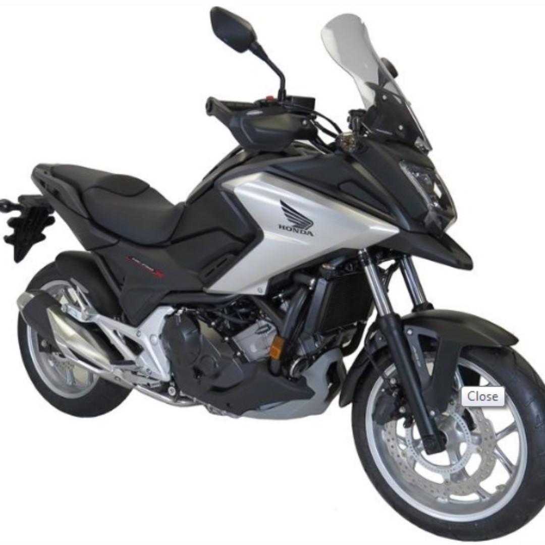 Honda Nc750x 16 17 Powerbronze Flip Touring Windshields 450 Mm High