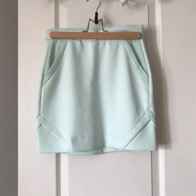 Icone - blue mini skirt