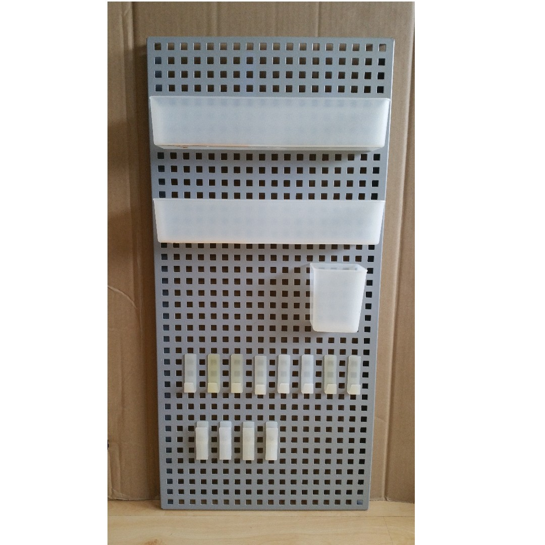 Ikea Adjustable Wall Organiser With 2 Long Trays 1 Container 6