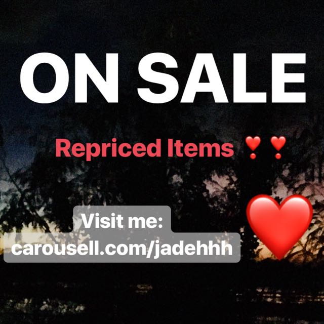 I'm back!! Check my account ❤️ Repriced items