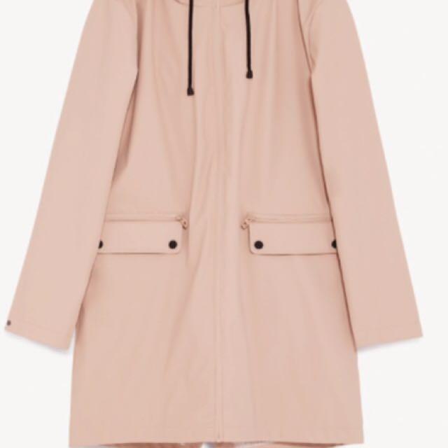 ISO Zara pink raincoat