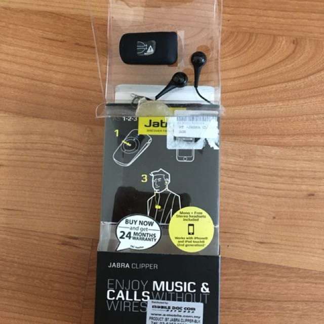 e94528024c7 JABRA CLIPPER Bluetooth Stereo Headset, Mobile Phones & Tablets, Mobile &  Tablet Accessories on Carousell