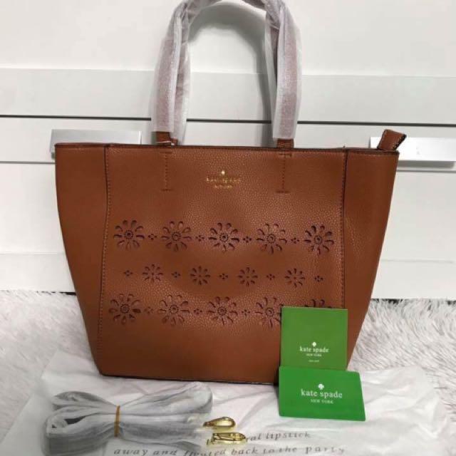 Kate Spade Perforated Rose Tote Bag
