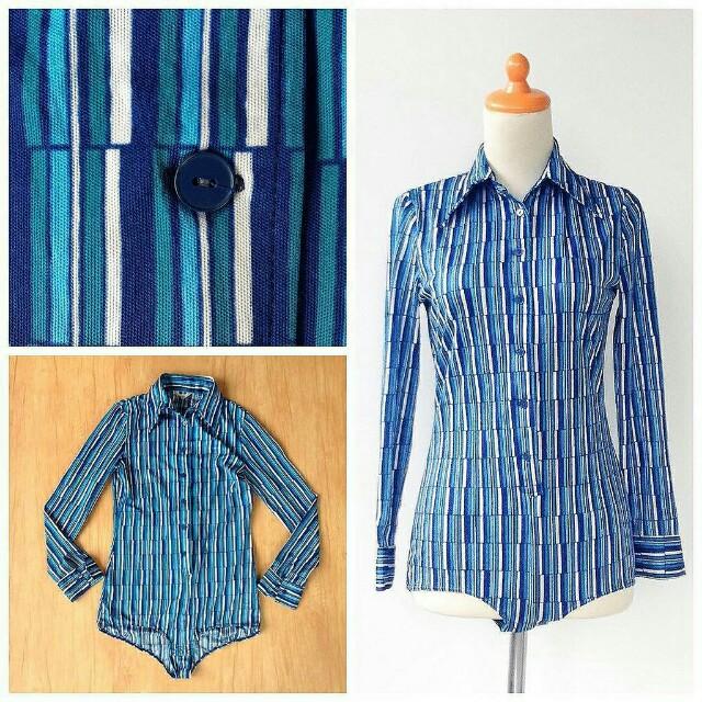 Kemeja Vintage Stripe Blue