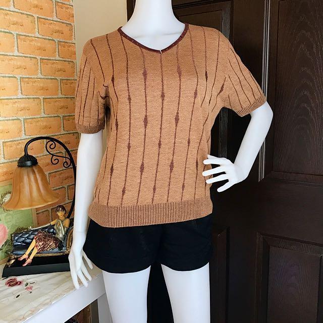 Knit Brown Blouse