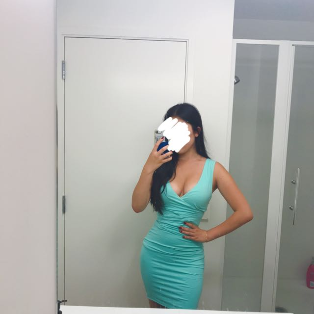 KOOKAI Mint Blue Turquoise Bodycon Party Dress
