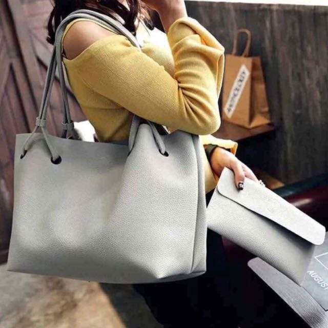 Korean Bag and Wallet Gray