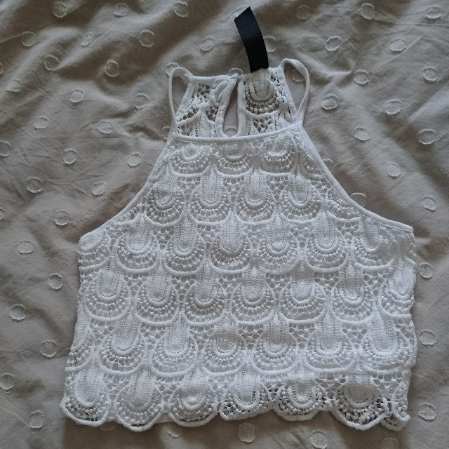 lacy crop top size small