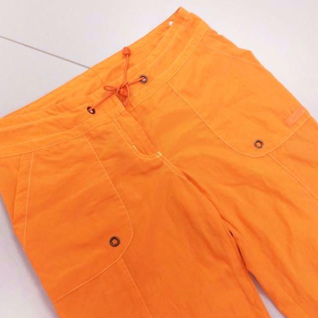Ladies Sporty Pants in Tangerine.