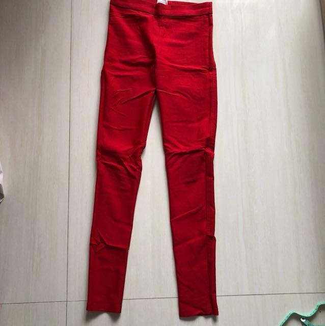 Legging Merah Panjang