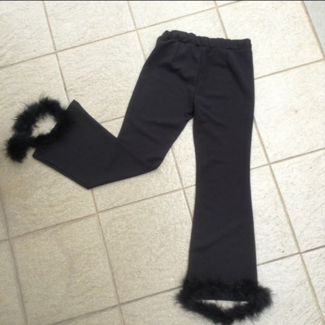 Long cullotes with removable fur
