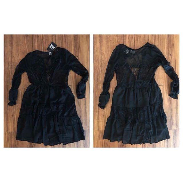 Long Sleeve Black Dress - BNWT