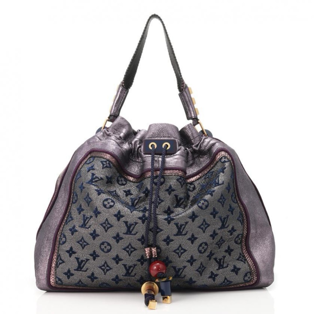 LV Louis Vuitton Limited Edition Monogram Bluebird Handbag