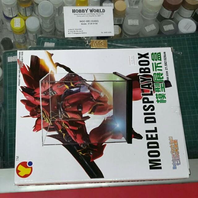 Model Kits Display Box With For Bandai Model Kit [Box size: 21.5×21×26cm] nsnss