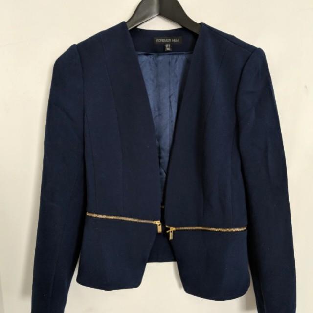Navy Blue Blazer from Forever New