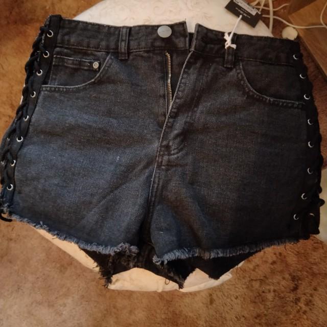 New Black Corset Shorts size 10 au