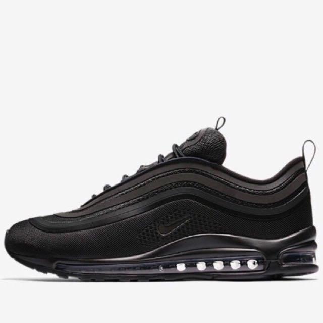 06b787afd Nike Air Max 97 Ultra Triple Black, Men's Fashion, Footwear on Carousell