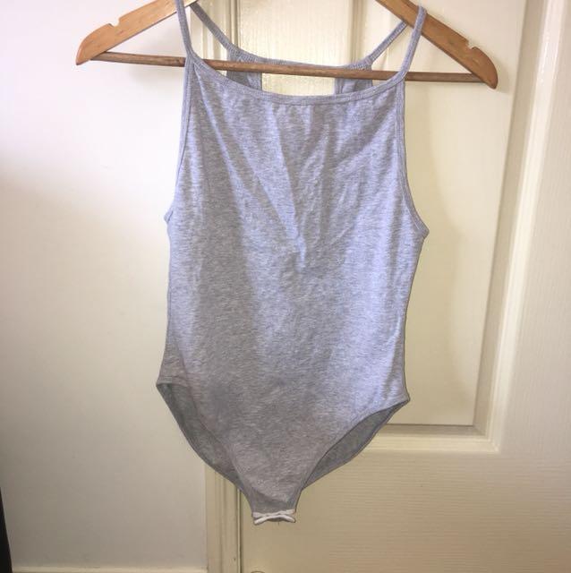 Nude Lucy Grey Bodysuit - Sz Small