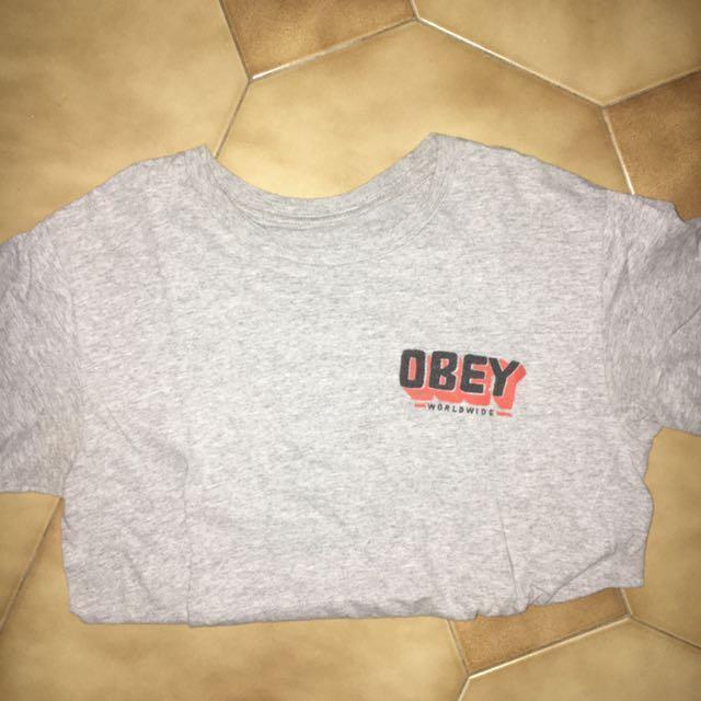 OBEY grey t shirt