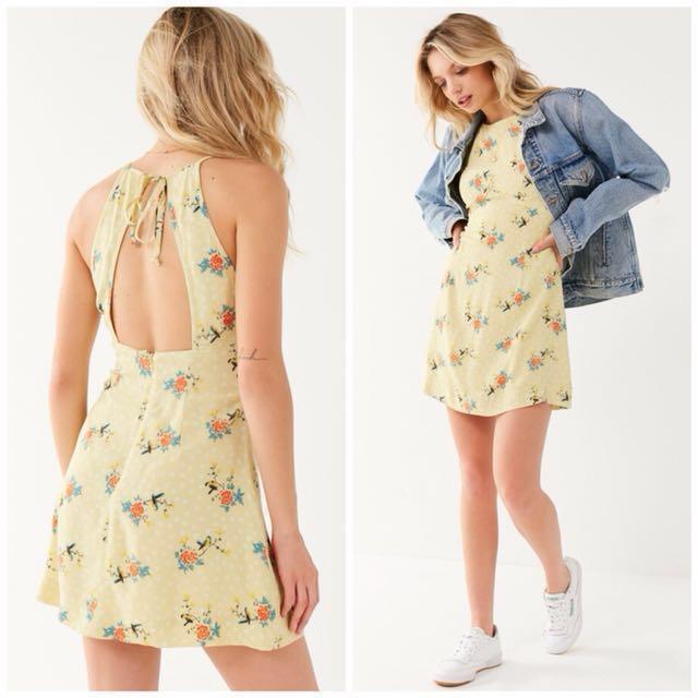 OshareGirl 01 美單露背綁帶收腰連身裙連身洋裝