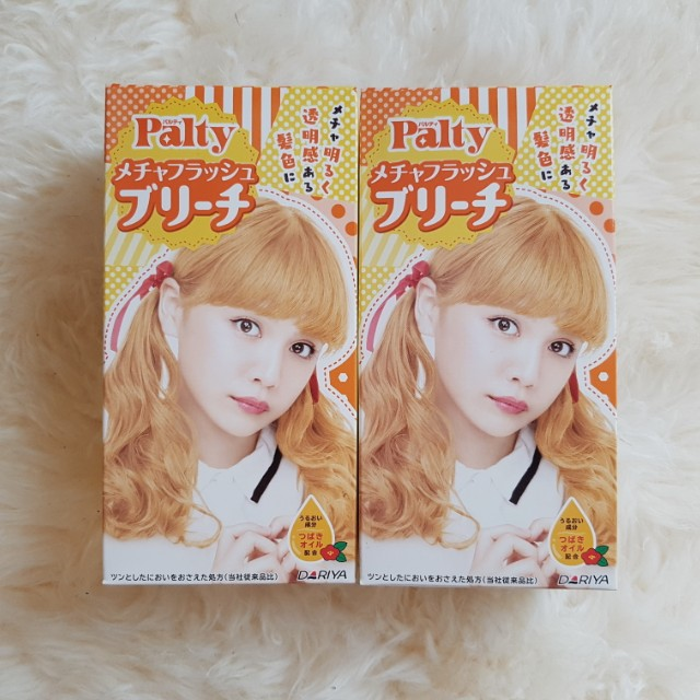 Palty blonde hair bleach