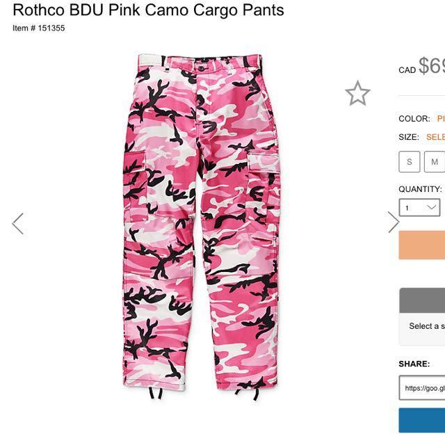 Pink Rothco Camo Pants