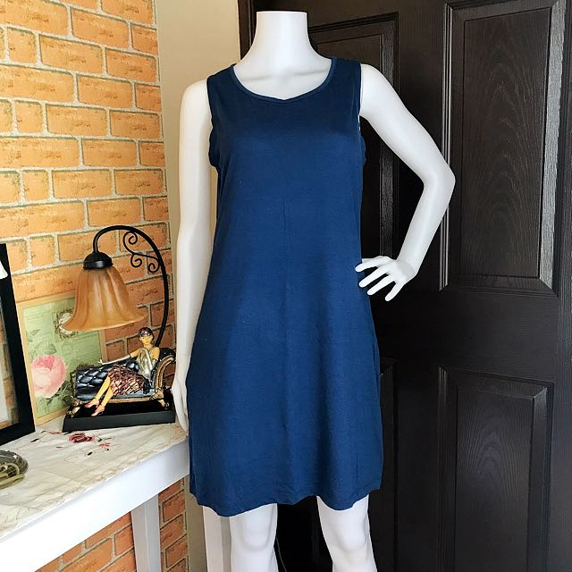 Plain Blue Dress