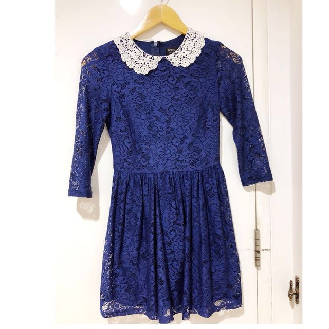 Pre loved Topshop blue lace classy dress