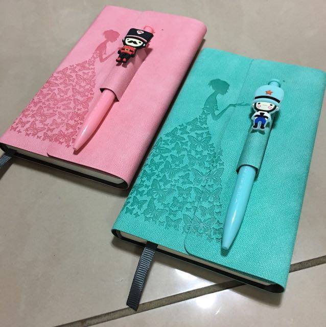Princess 👑 A6 Notebooks/Pink & Green/Free local Mail