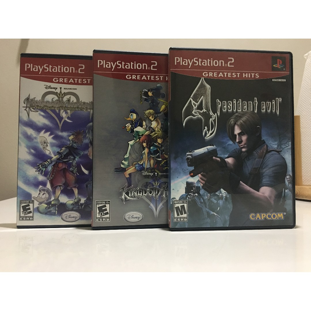 PS2 Games - Resident Evil 4, Kingdom Hearts: Re Chain of Memories // Kingdom Hearts II (or Kingdom Hearts 2)