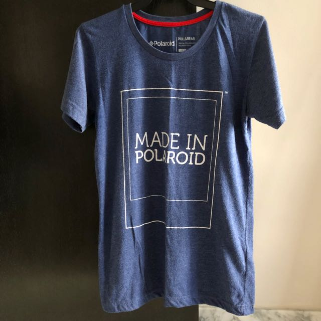 """991805182 Pull & Bear """"Made in Polaroid"""" Tee, Men's Fashion, Clothes on Carousell"""