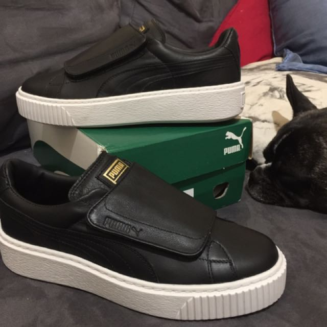PUMA PLATFORM Black & Gold with Strap