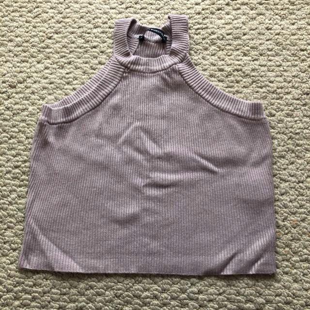 Purple Brandy Melville Knit Halter Crop