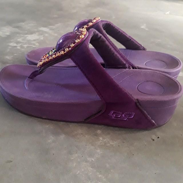 74cfa3de7be purple platform sandals slippers