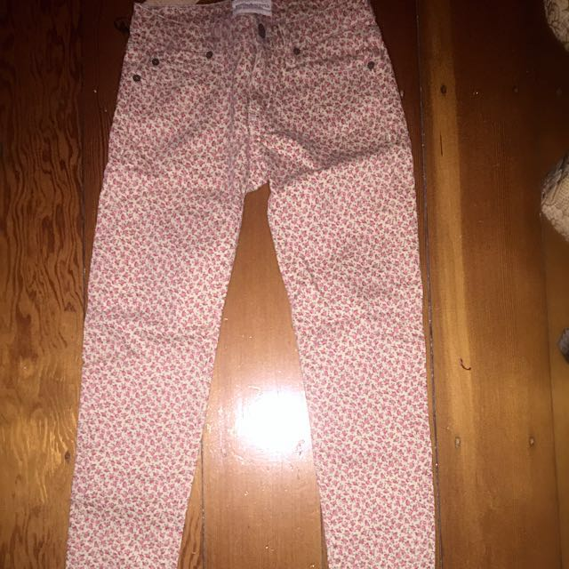 Ralph Lauren Floral Patterned 7/8 Jeans
