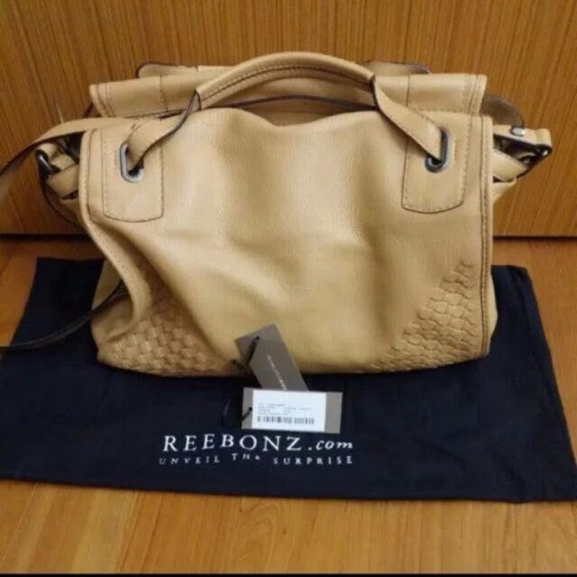 292e8b5232e7 Reebonz Francesco Biasia Sairee Woven Leather Bag