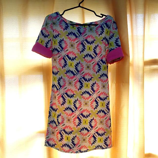 Retro inspired mini dress