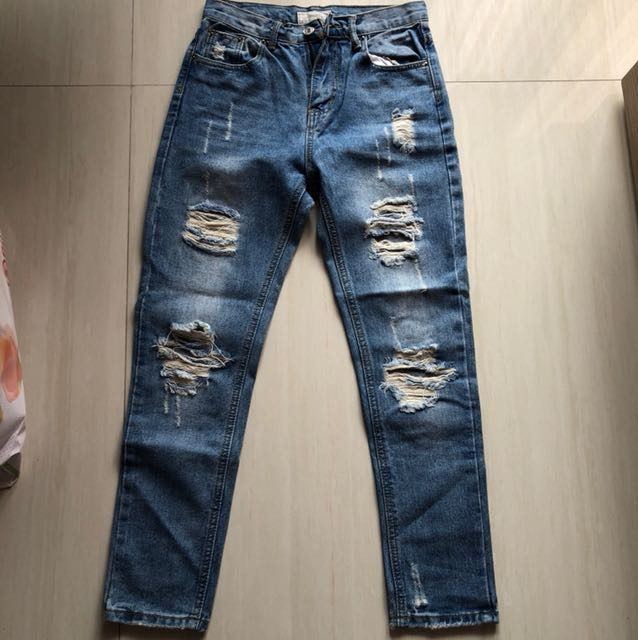 Ripped Jeans Panjang