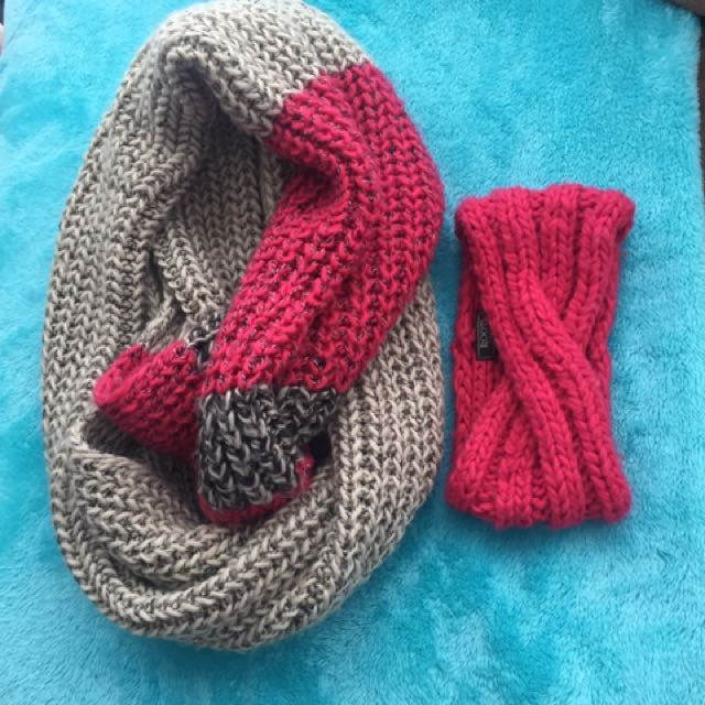 Roots Infinity Scarf with matching roots headband