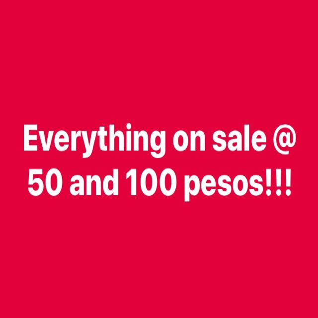 Sale!!! 100 and 50 for al items!!!