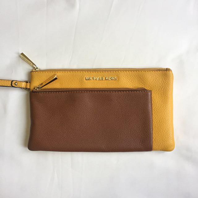 SALE Michael Kors Leather Pouch Ori (Super Murah)