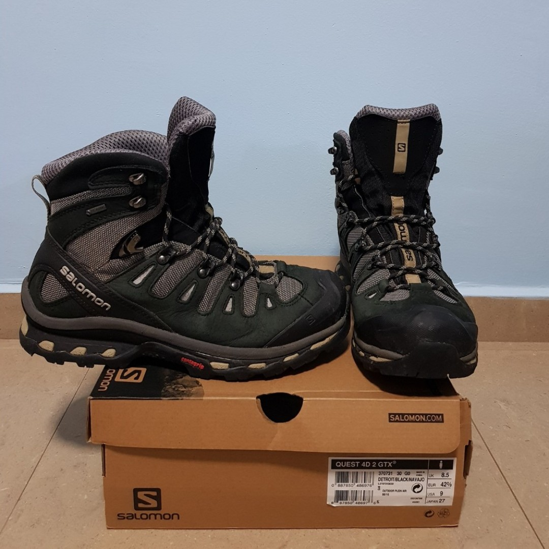 2604d23ba754d SALOMON QUEST 4D 2 GTX (US 9) (Color  Detroit Black Navajo)