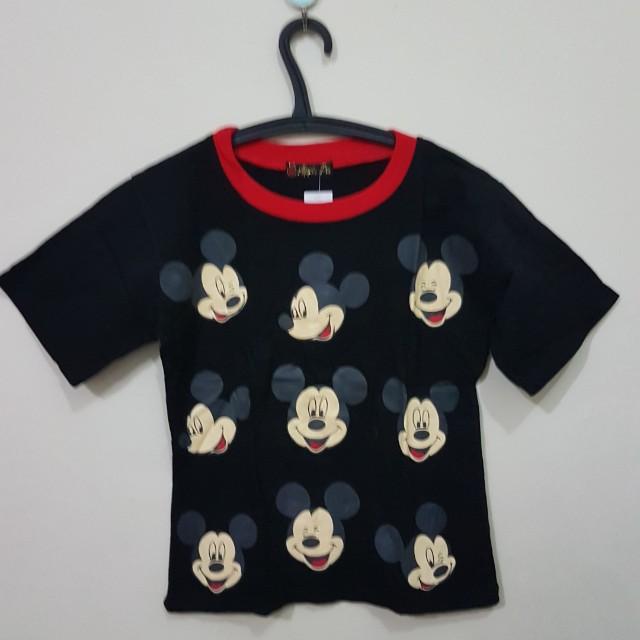 Semi crop tee mickey mouse