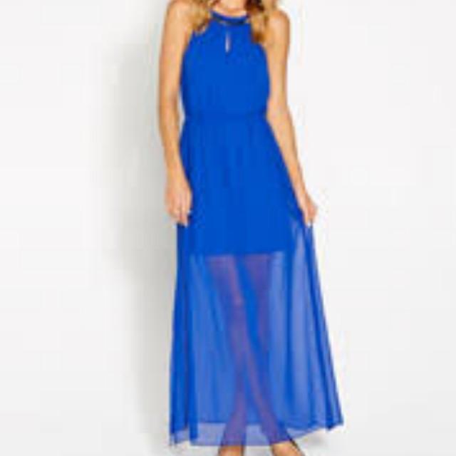 Size 8 Blue Maxi Dress