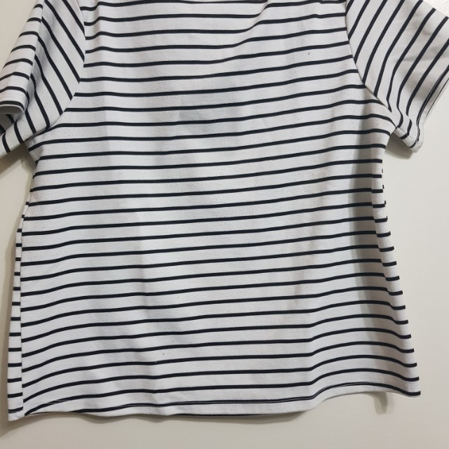 Striped Shirt with Zipper