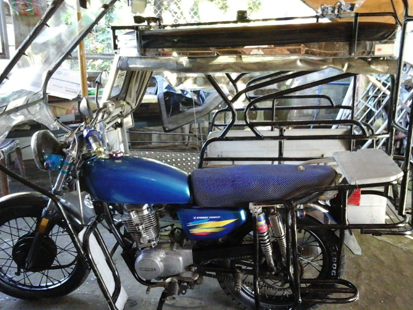 TMX 155 Tricycle a Back to Back Sidecar with Calamba Laguna