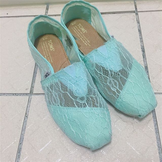 TOMS 湖水綠休閒鞋
